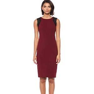 Calvin Klein Women's Solid Sleeveless Sheath with
